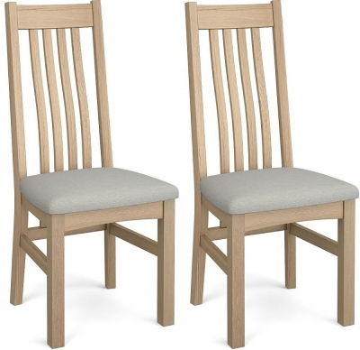 Corndell Daylesford 4 Slat Dining Chair - Oak (Pair)