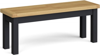 Corndell Daylesford Large Bench - Oak and Charcoal