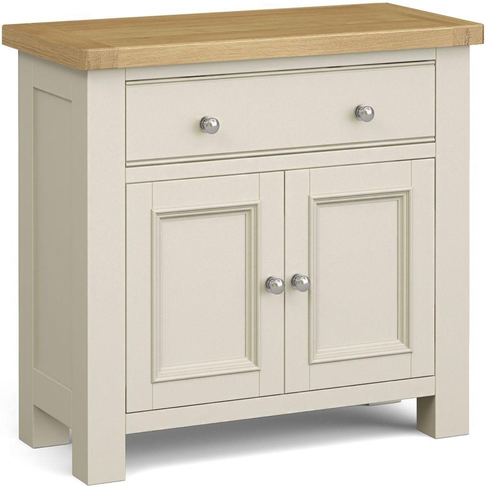 Corndell Daylesford 2 Door 1 Drawer Mini Sideboard - Oak and Ivory
