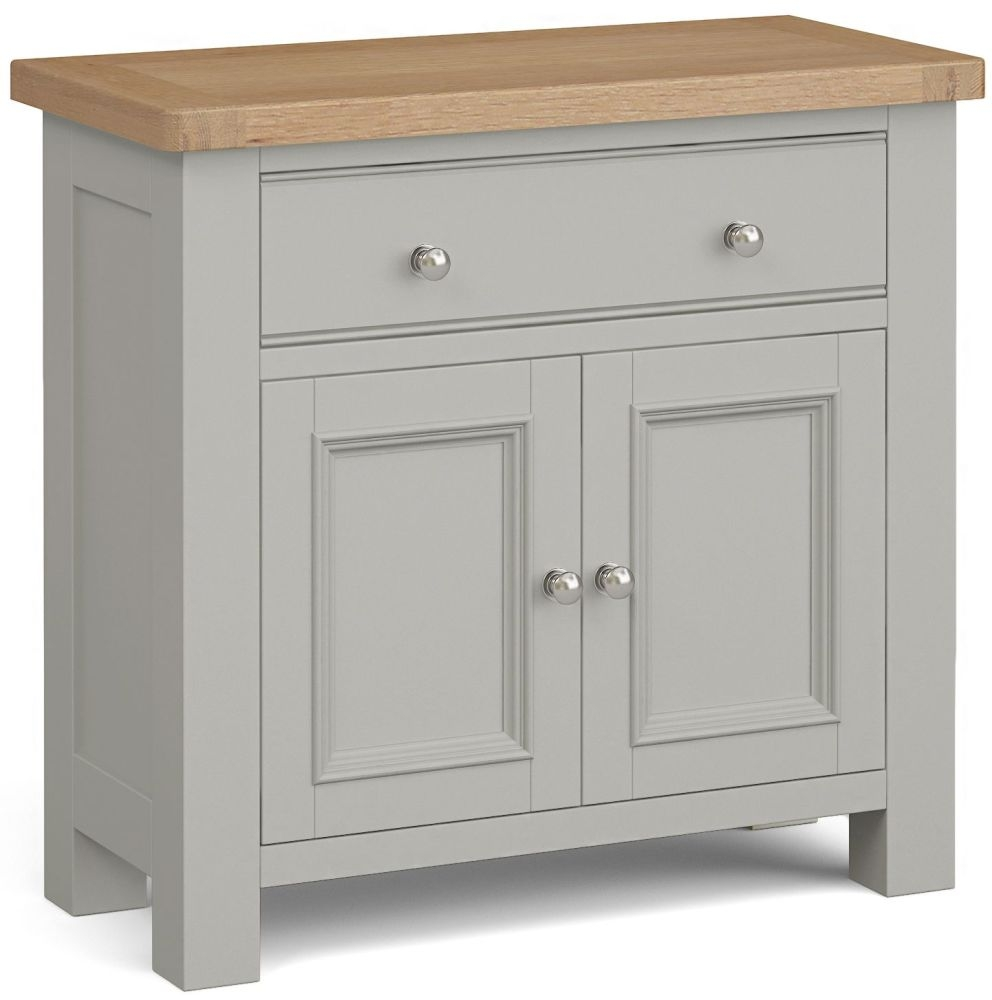 Corndell Daylesford 2 Door 1 Drawer Mini Sideboard - Oak and Pebble Grey