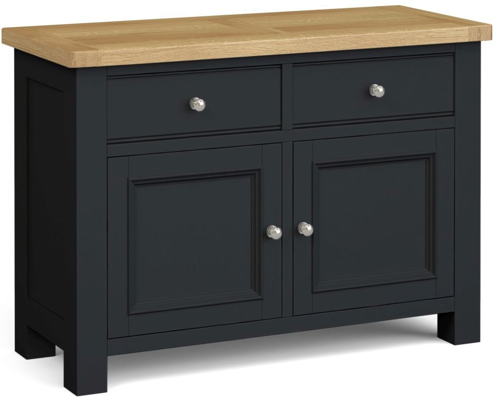 Corndell Daylesford 2 Door 2 Drawer Small Sideboard - Oak and Charcoal