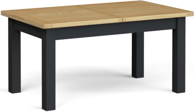 Corndell Daylesford Large Extending Dining Table - Oak and Charcoal