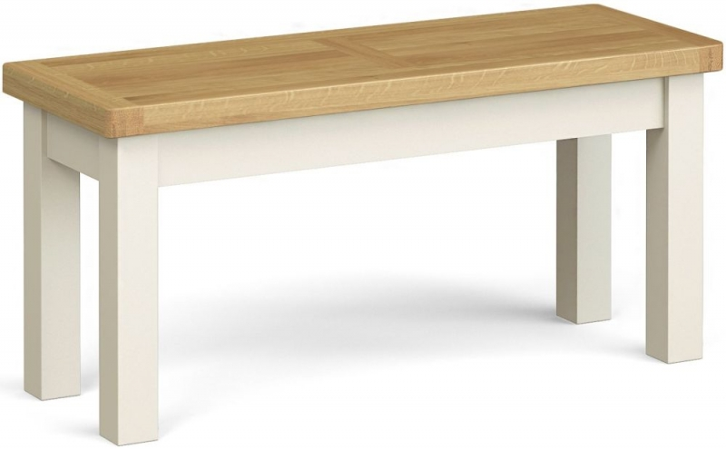 Corndell Daylesford Small Bench - Oak and Ivory