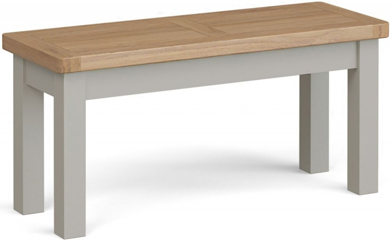 Corndell Daylesford Small Bench - Oak and Pebble Grey