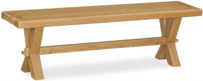 Corndell Fairford Oak Bench with Cross Legs