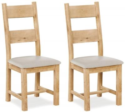 Corndell Fairford Oak Dining Chair (Pair)