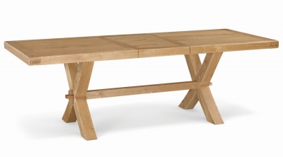 Corndell Fairford Oak Extending Dining Table with Cross Legs