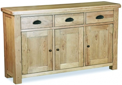 Corndell Fairford Oak Large Sideboard