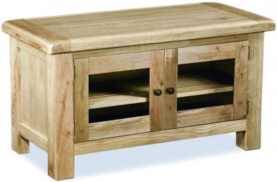 Corndell Fairford Oak Large TV Unit