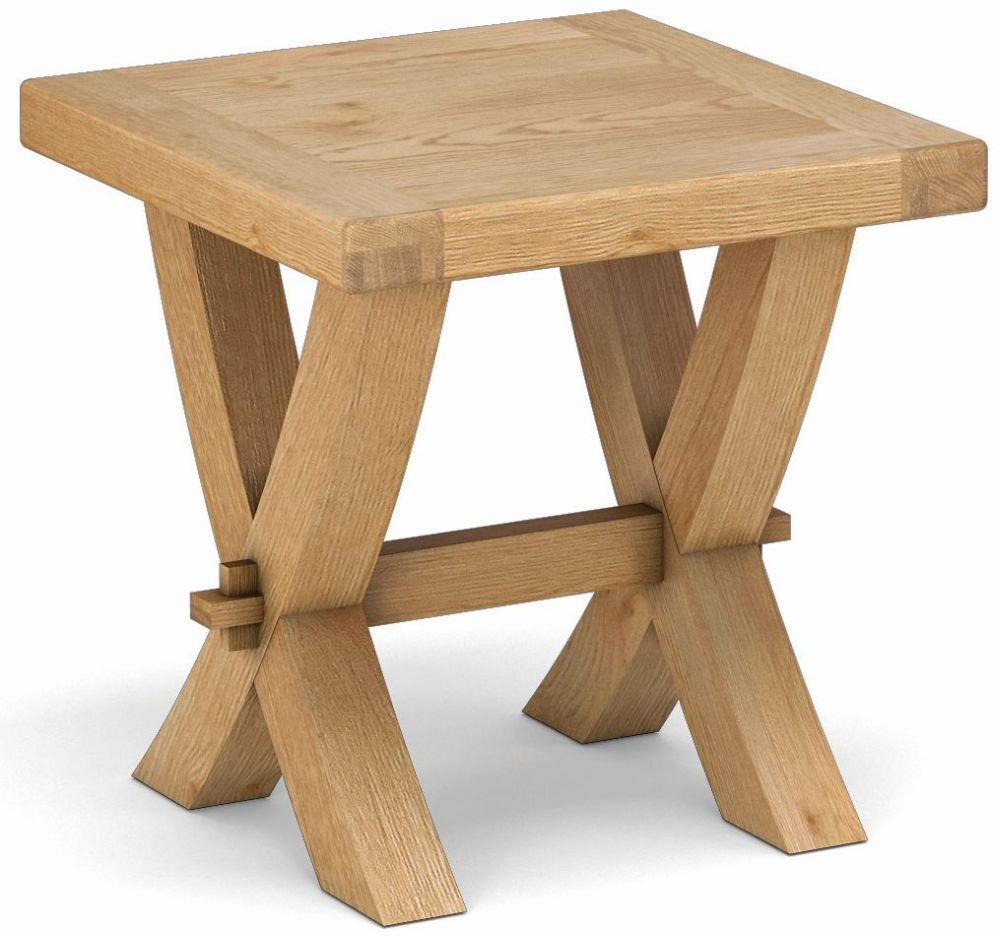 Buy corndell fairford light oiled oak lamp table with cross legs corndell fairford light oiled oak lamp table with cross legs aloadofball Image collections