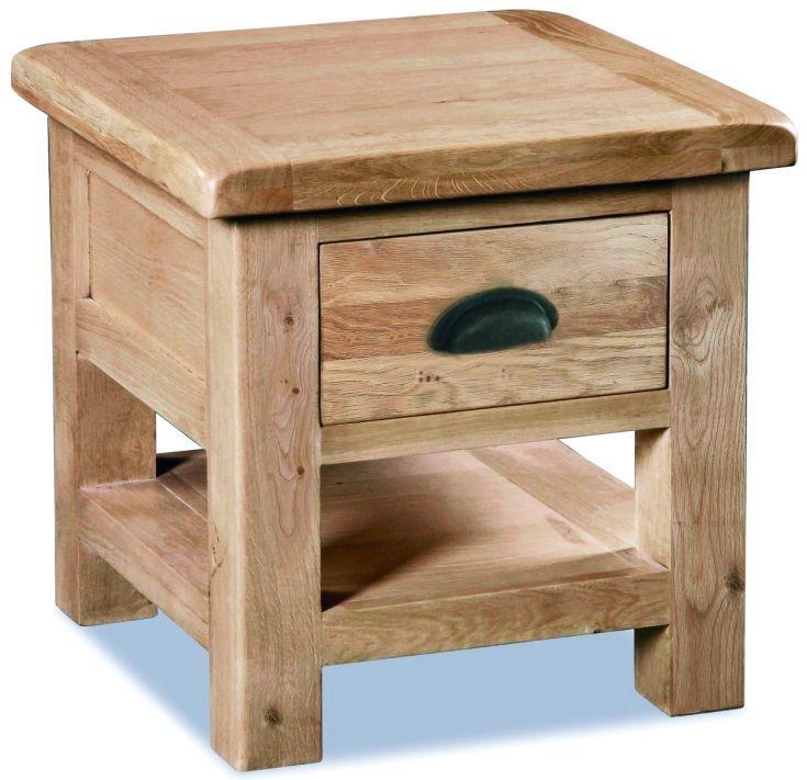Corndell Fairford Oak Lamp Table