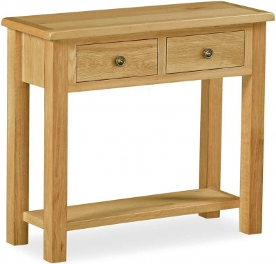 Corndell Lovell Lite Oak Console Table