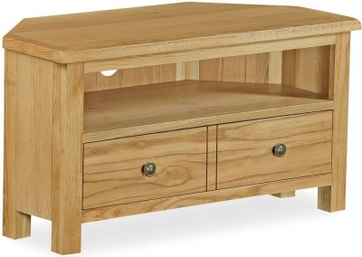 Corndell Lovell Lite Oak Corner TV Unit