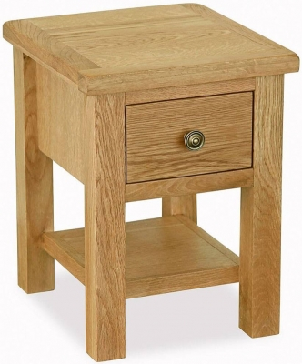 Corndell Lovell Lite Oak Lamp Table