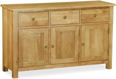 Corndell Lovell Lite Oak Large Sideboard
