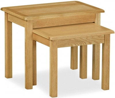Corndell Lovell Lite Oak Nest of Tables
