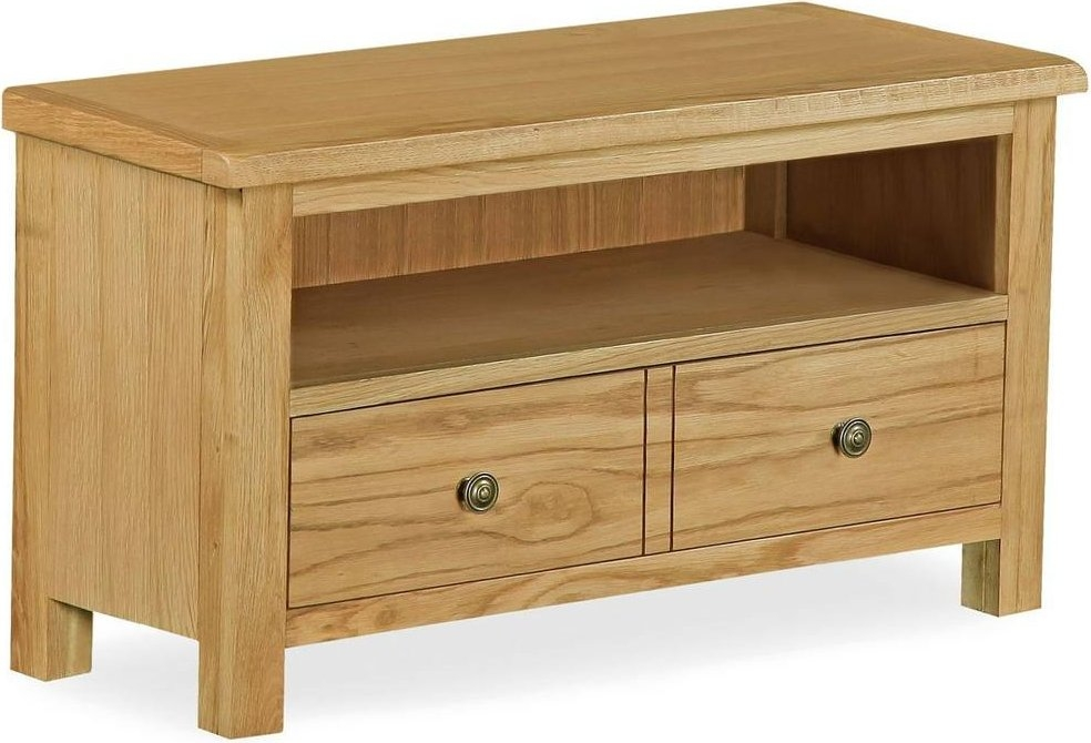 Corndell Lovell Lite Oak Small TV Unit
