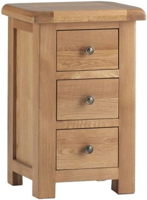Corndell Lovell Oak 3 Drawer Bedside Cabinet