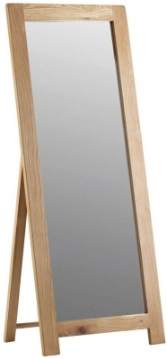 Corndell Lovell Oak Cheval Mirror