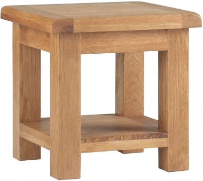 Corndell Lovell Oak Lamp Table