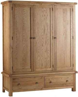Corndell Lovell Oak Triple Wardrobe
