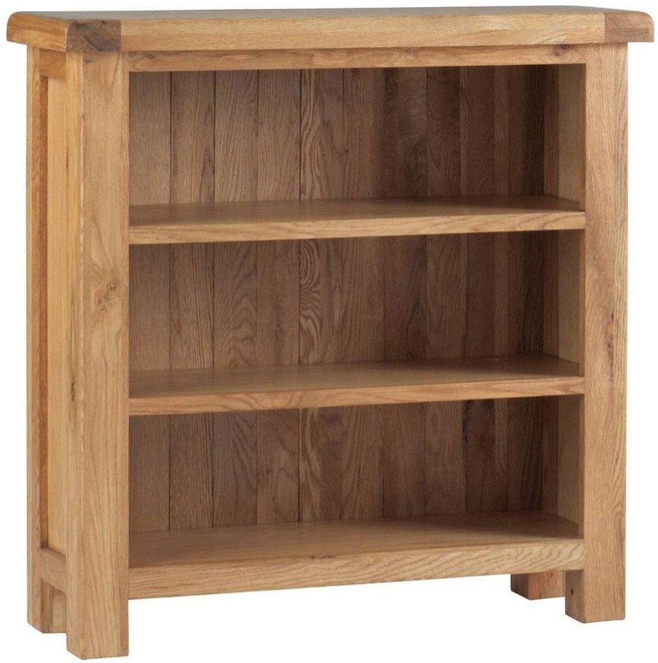 Corndell Lovell Oak Low Bookcase