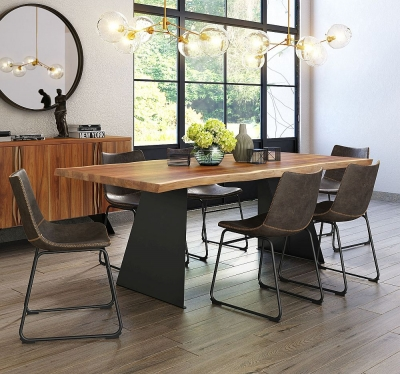 Corndell Milan 210cm Live Edge Dining Set - 6 Chairs