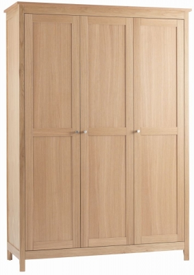 Corndell Nimbus Satin Oak 3 Door Triple Wardrobe