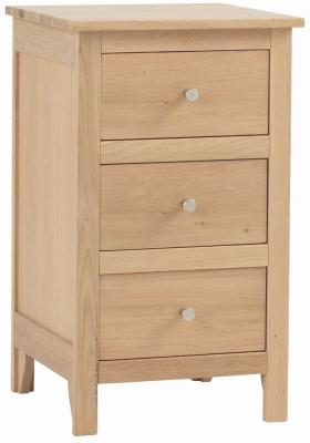 Corndell Nimbus Satin Oak 3 Drawer Bedside Cabinet