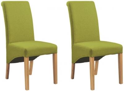 Corndell Nimbus Satin Oak Bibury Chair (Pair)