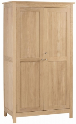 Corndell Nimbus Satin Oak 2 Door Double Wardrobe