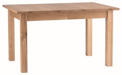 Corndell Nimbus Satin Oak 135cm-180cm Extending Dining Table