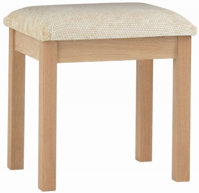 Corndell Nimbus Satin Oak Dressing Stool