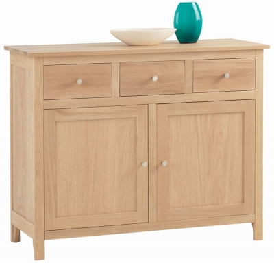 Corndell Nimbus Satin Oak Large Sideboard