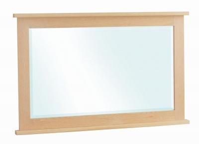 Corndell Nimbus Satin Oak Rectangular Mirror