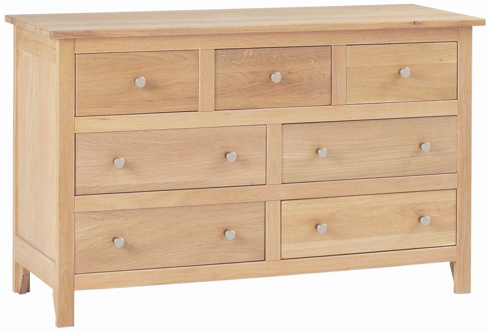 Corndell Nimbus Satin Oak 4+3 Drawer Chest