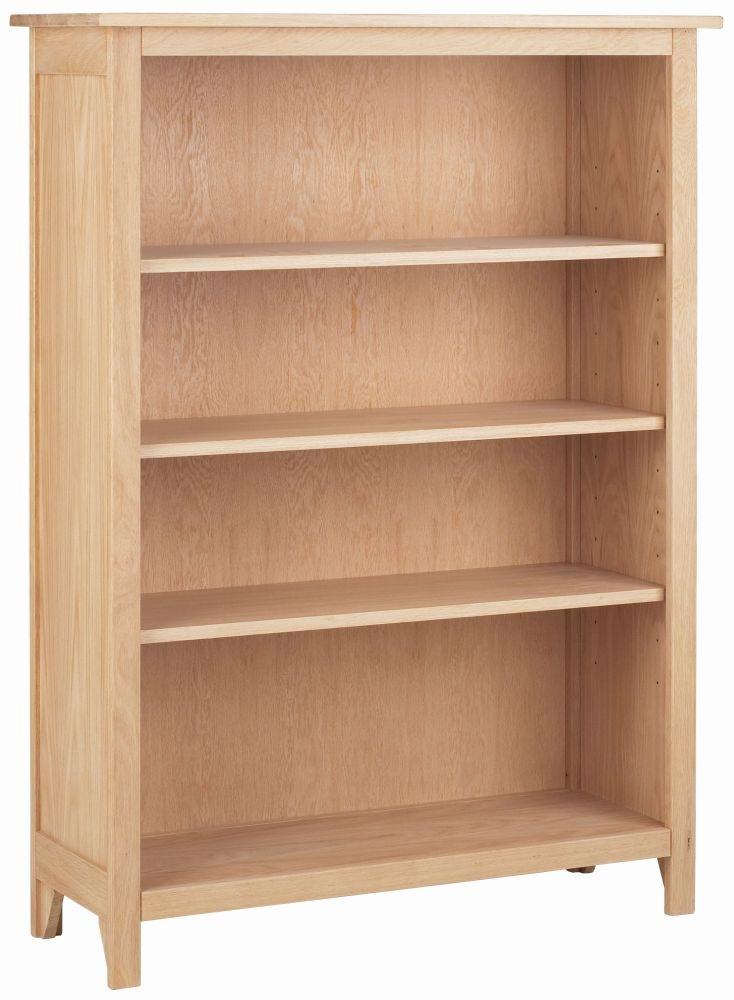 Corndell Nimbus Satin Oak Medium Bookcase