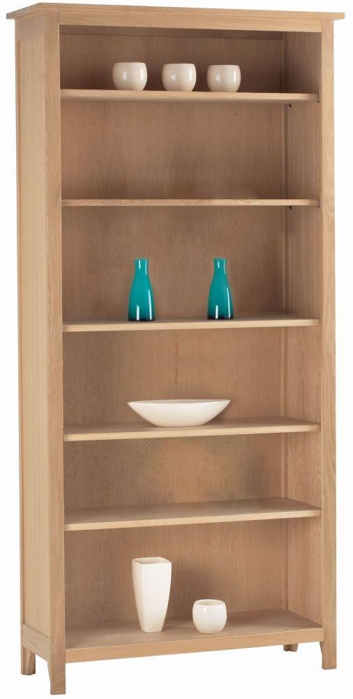 Corndell Nimbus Satin Oak Large Bookcase