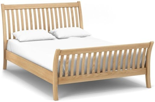 Corndell Nimbus Satin Oak Curved Bed