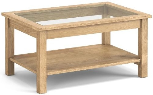 Corndell Nimbus Satin Oak Glazed Coffee Table
