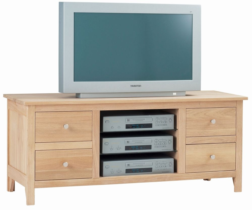 Corndell Nimbus Satin Oak Medium TV Cabinet
