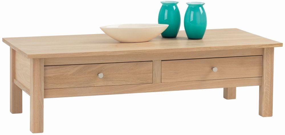 Corndell Nimbus Satin Oak Midi Storage Coffee Table
