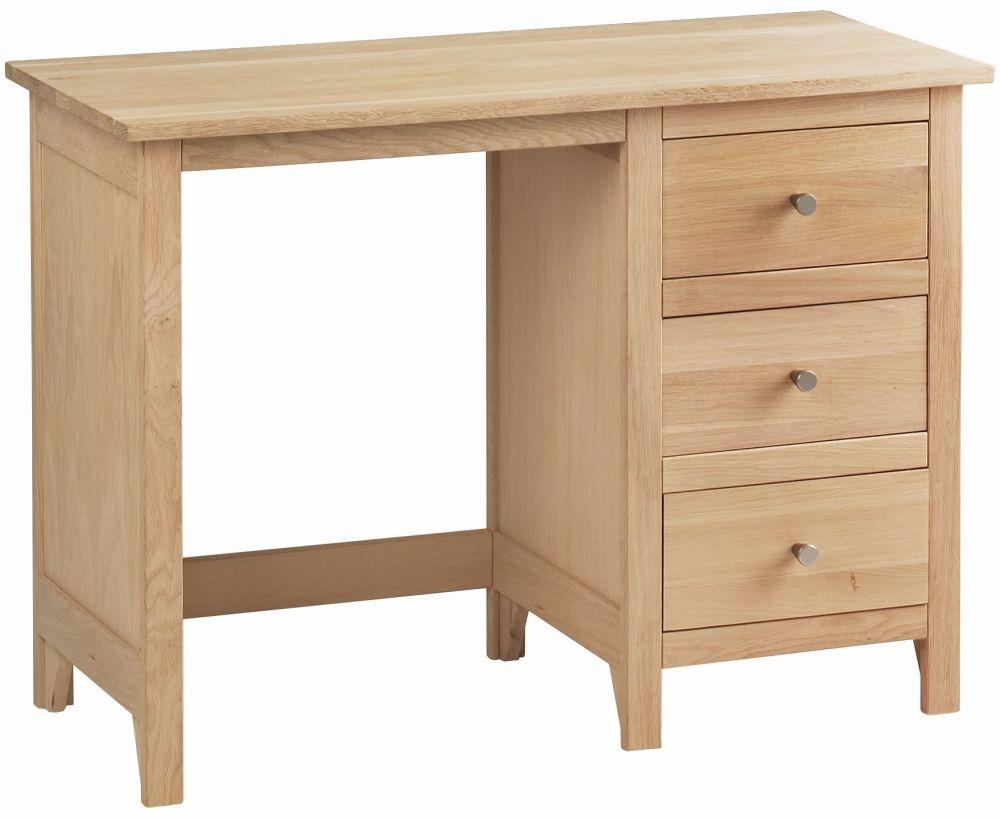 Corndell Nimbus Satin Oak Single Pedestal Dressing Table