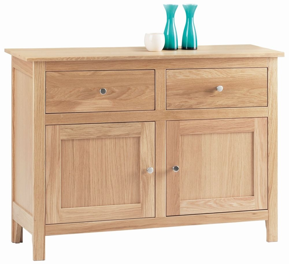Corndell Nimbus Satin Oak Small Sideboard