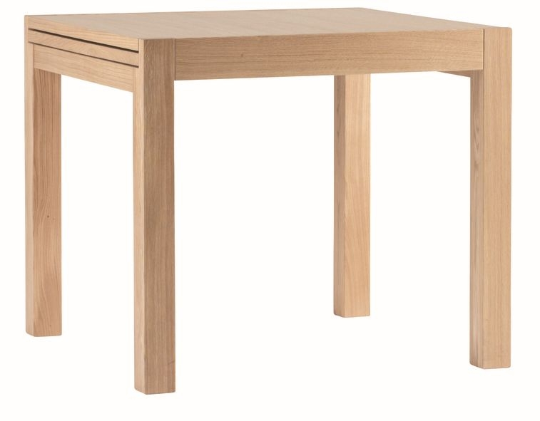 Corndell Nimbus Satin Oak Square Extending Dining Table with Sliding Top