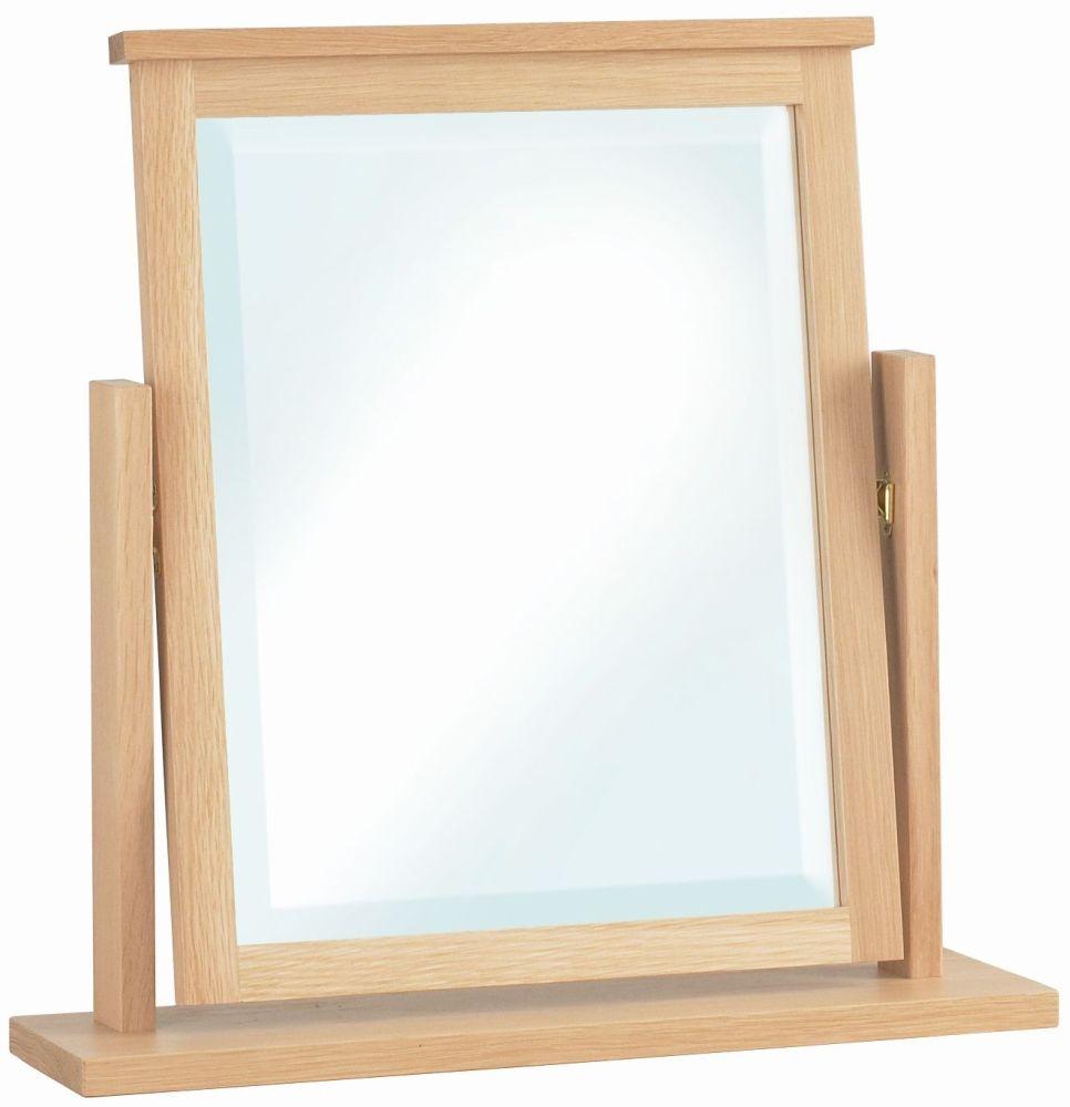Corndell Nimbus Satin Oak Dressing Mirror