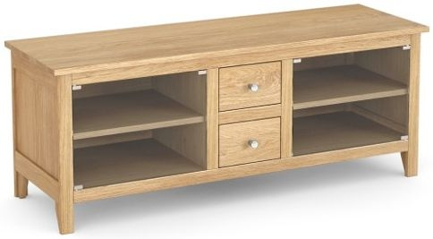 Corndell Nimbus Satin Oak Narrow TV Cabinet