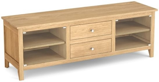 Corndell Nimbus Satin Oak Large TV Cabinet