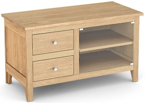 Corndell Nimbus Satin Oak Mini TV Cabinet