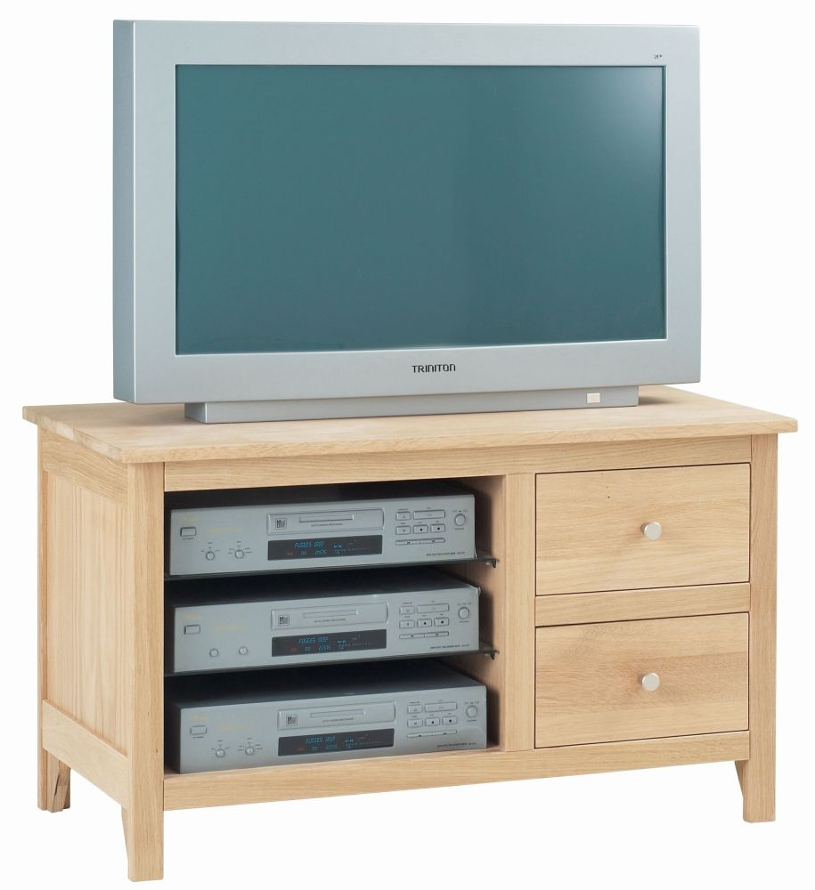 Corndell Nimbus Satin Oak Small TV Cabinet
